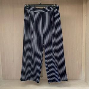 Flowy navy and white striped pants